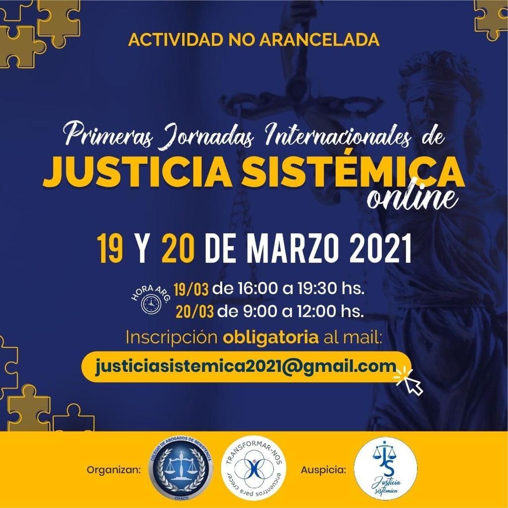 Jornadas de justicia sistémica 19 y 20 marzo